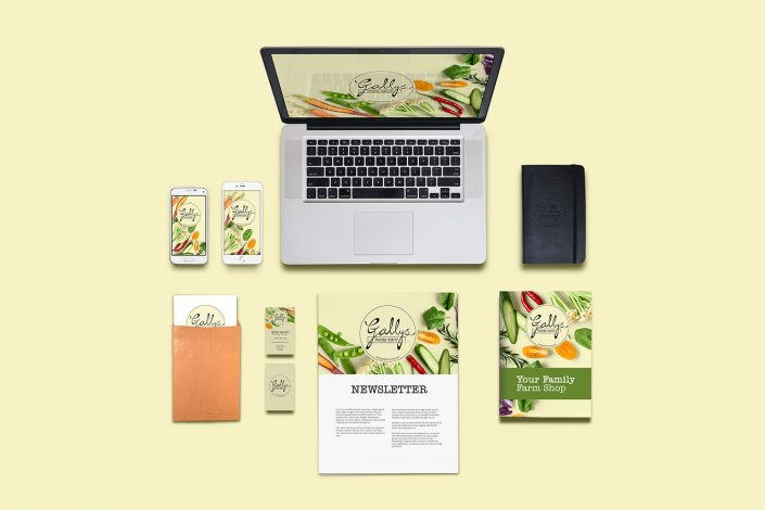 Gallys Farm Shop Branding & Stationery Design