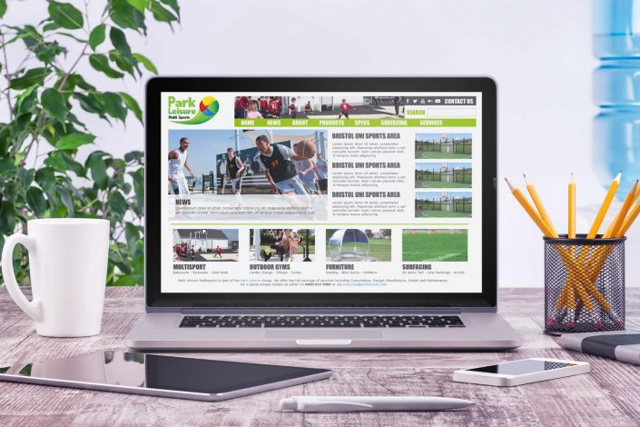 Park Leisure Multi Sport Website Design